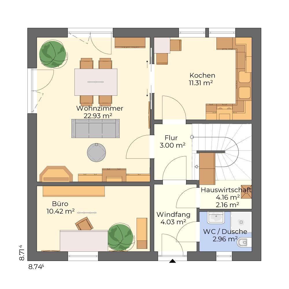 Nova 101 - klassisches Einfamilienhaus mit Garage