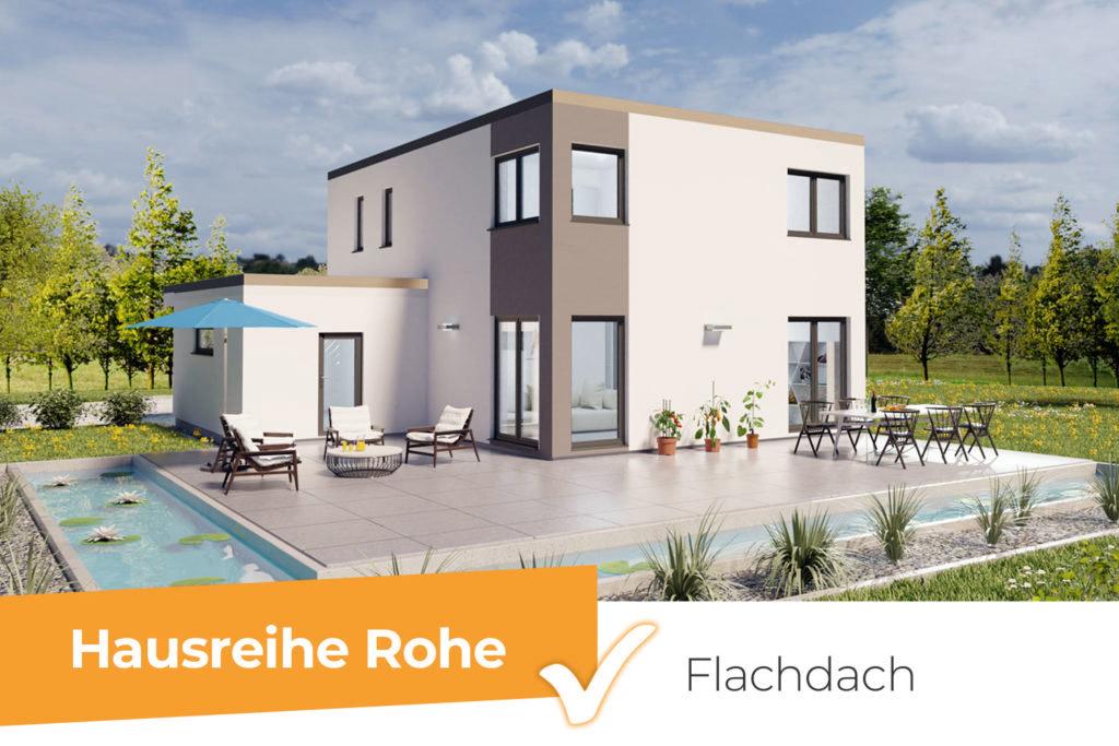 Hausreihe Rohe - moderne Flachdachhäuser