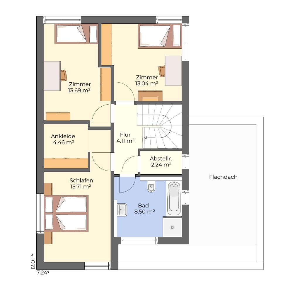 Rohe 101 - modernes Flachdachhaus im Bauhausstil