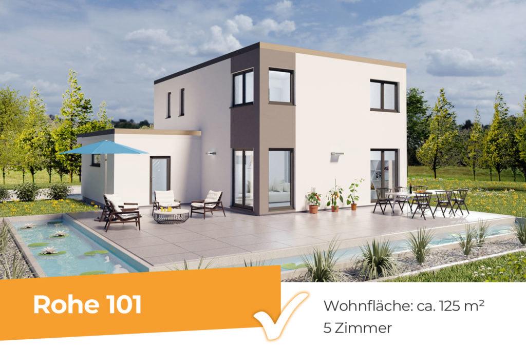Rohe 101 - modernes Flachdachhaus mit klaren Formen