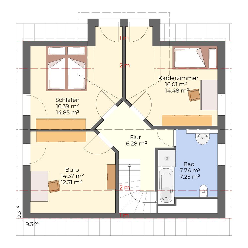 Nova 754 - klassisches Einfamilienhaus mit Erker
